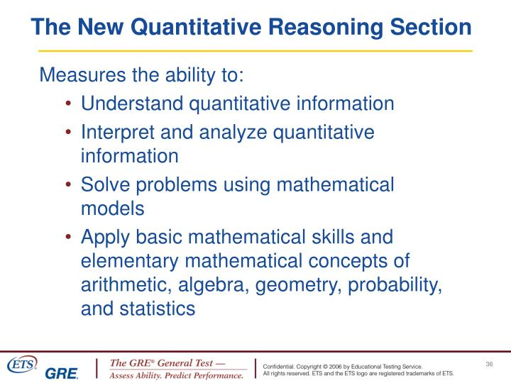 The New Quantitative Reasoning Section
