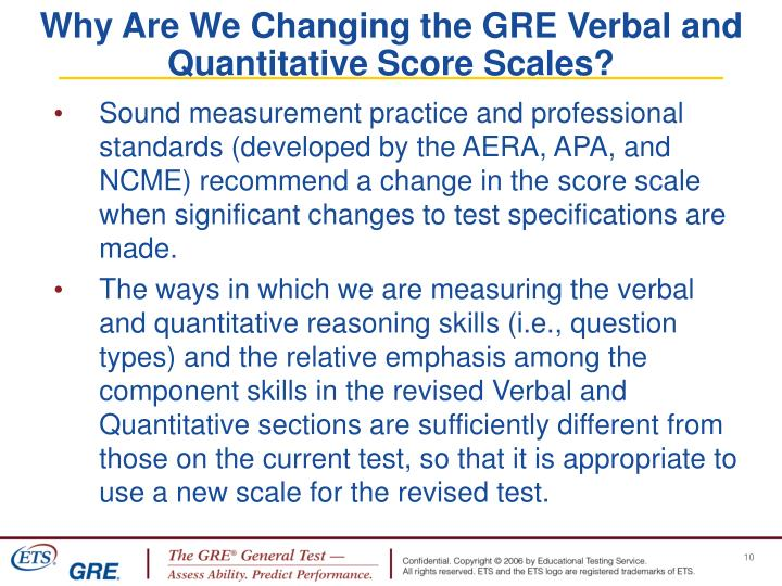 Why Are We Changing the GRE Verbal and