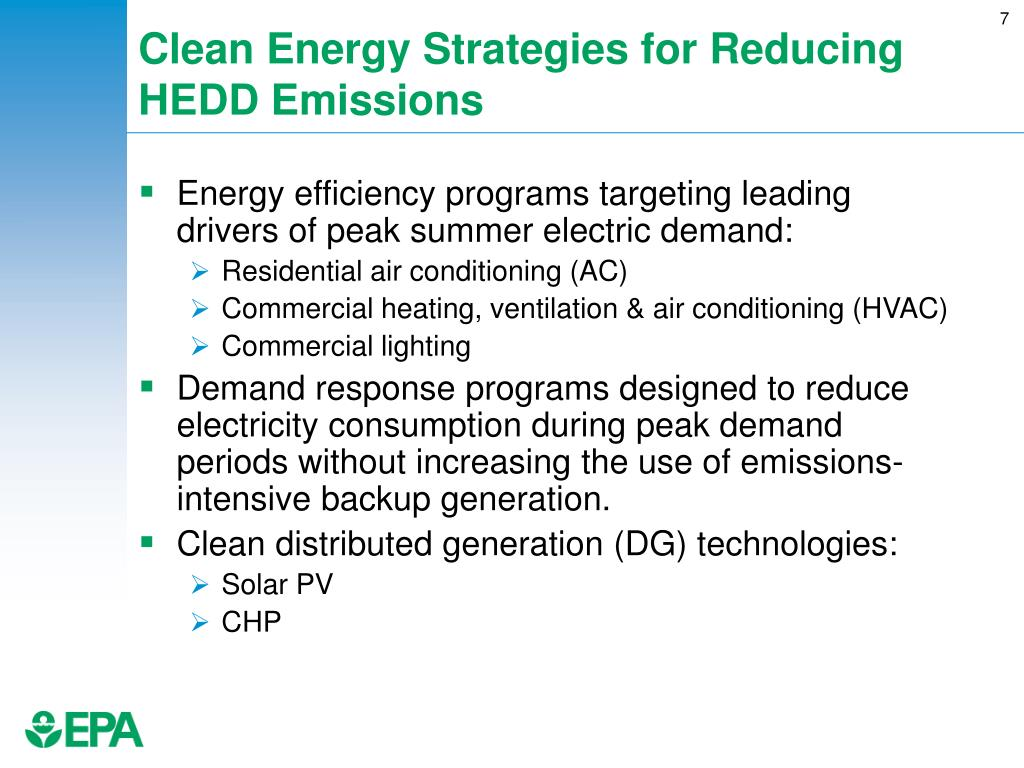 Clean Energy Strategies for Reducing HEDD Emissions