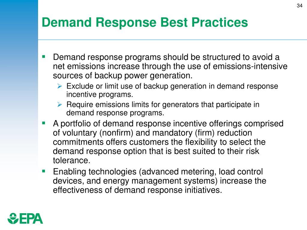 Demand Response Best Practices