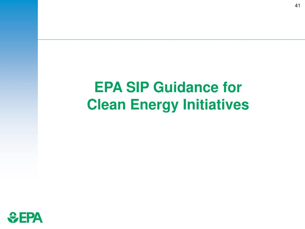 EPA SIP Guidance for