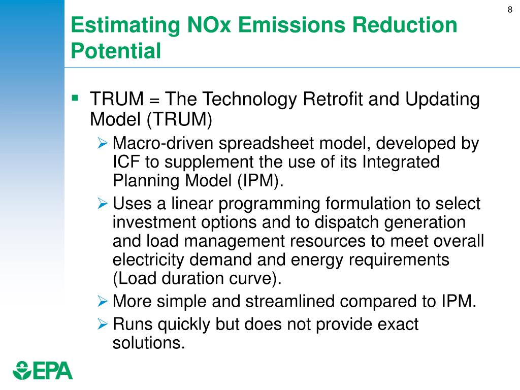 Estimating NOx Emissions Reduction Potential