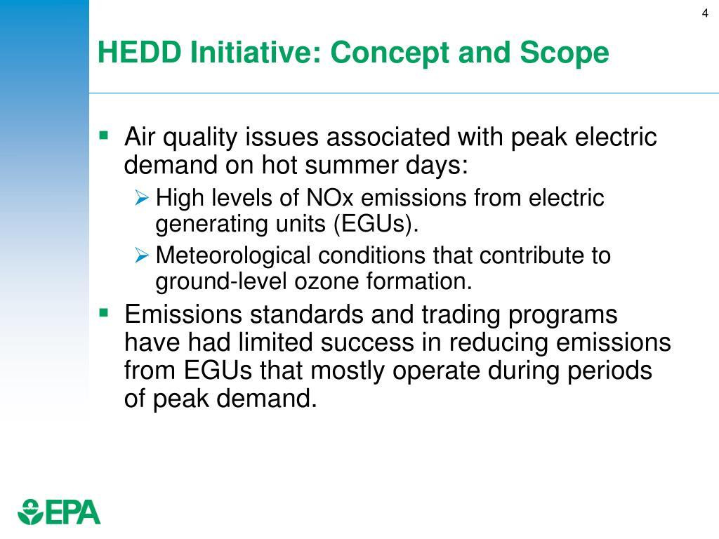 HEDD Initiative: Concept and Scope