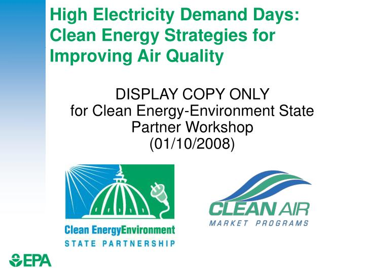 High electricity demand days clean energy strategies for improving air quality