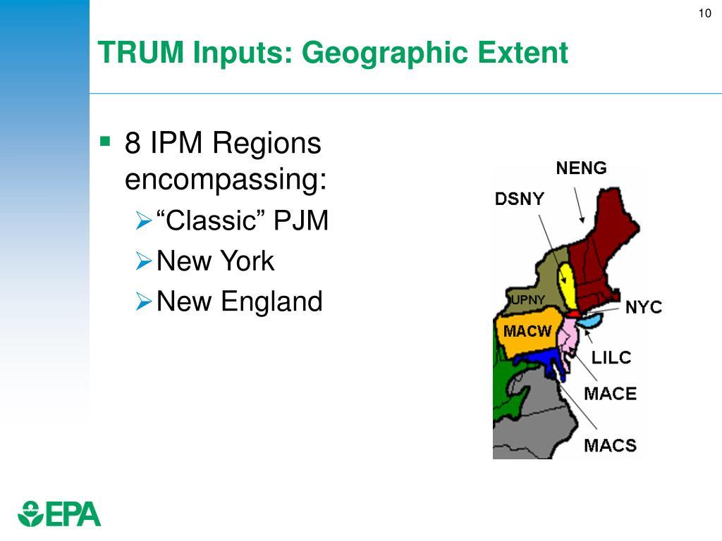 TRUM Inputs: Geographic Extent