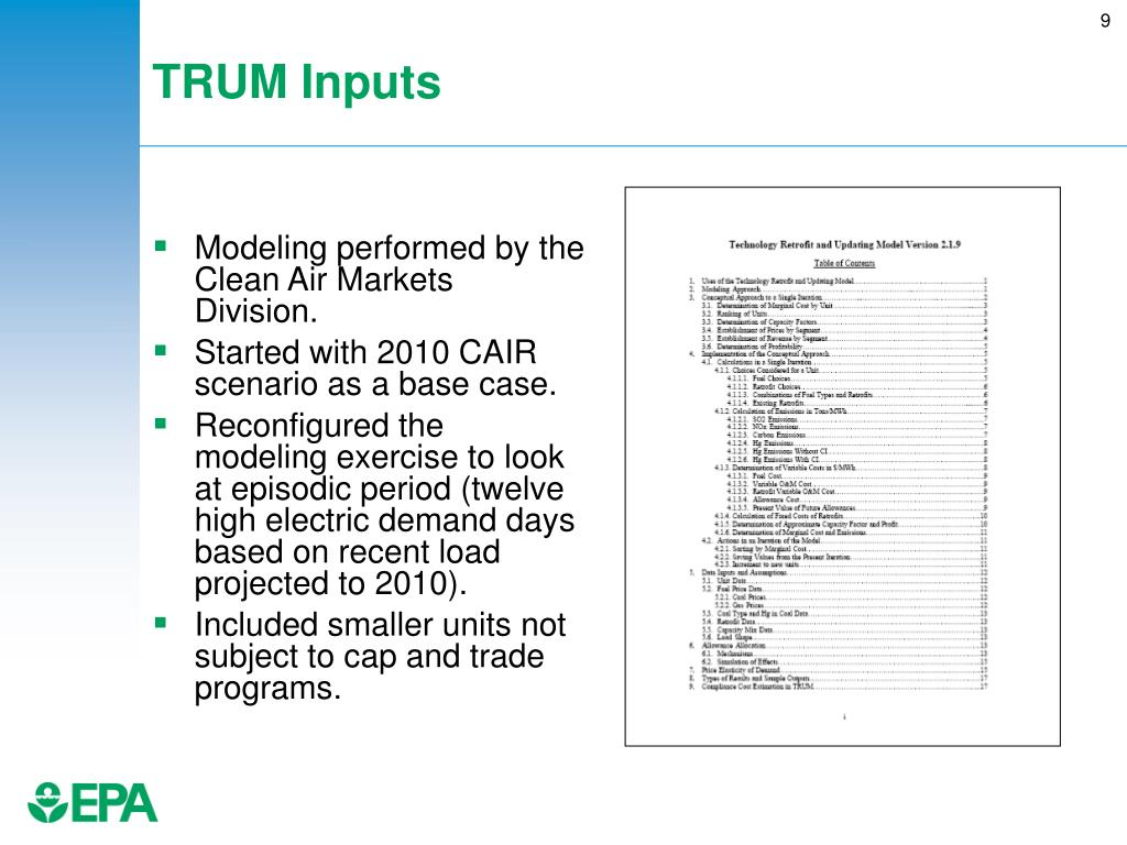 TRUM Inputs