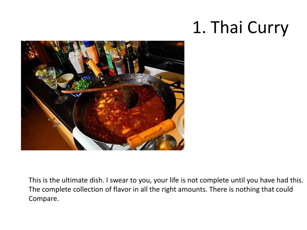 1. Thai Curry