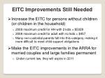 eitc improvements still needed