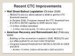 recent ctc improvements