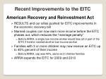 recent improvements to the eitc