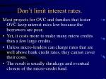 don t limit interest rates