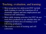 tracking evaluation and learning