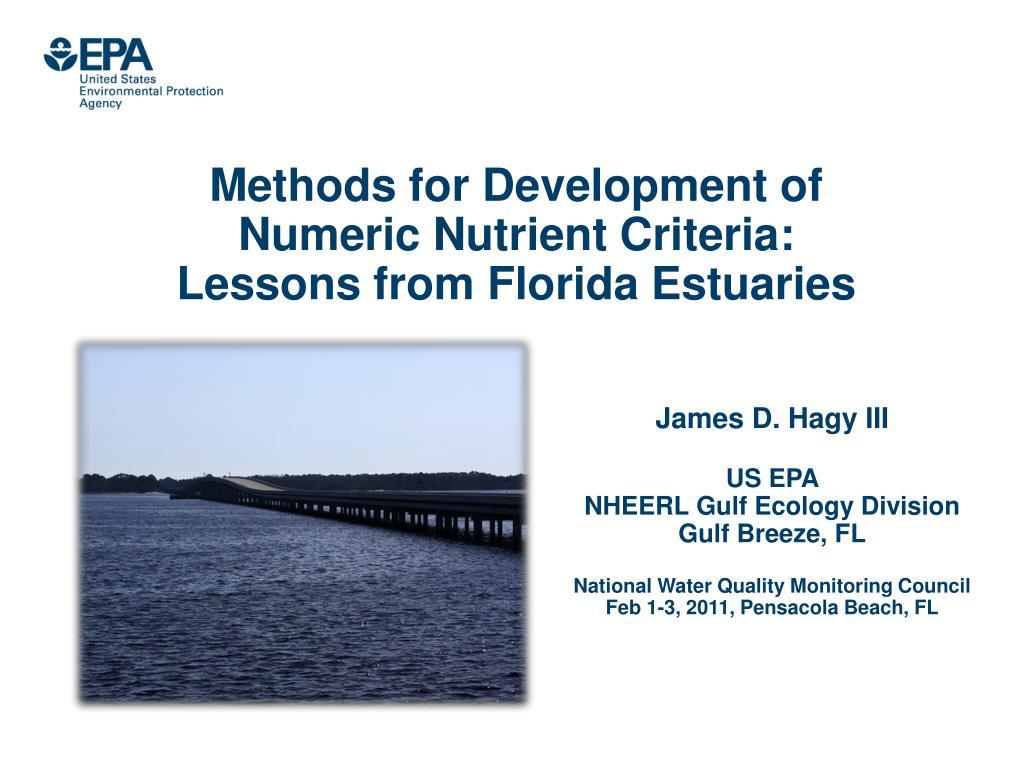 Methods for Development of