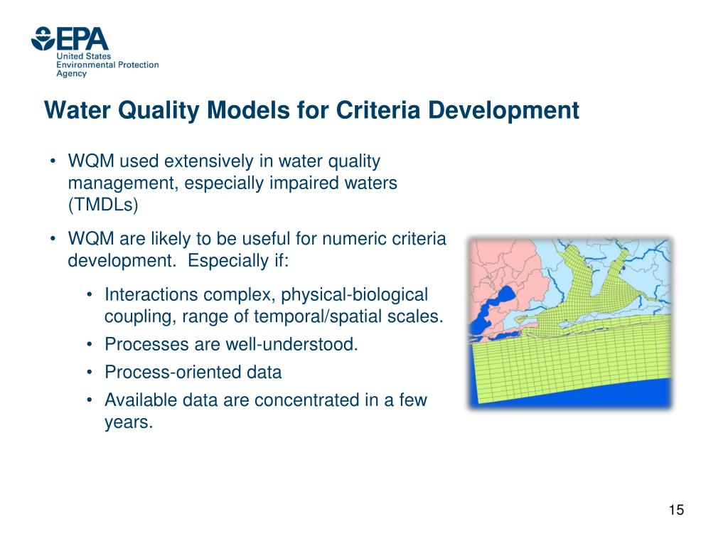 Water Quality Models for Criteria Development