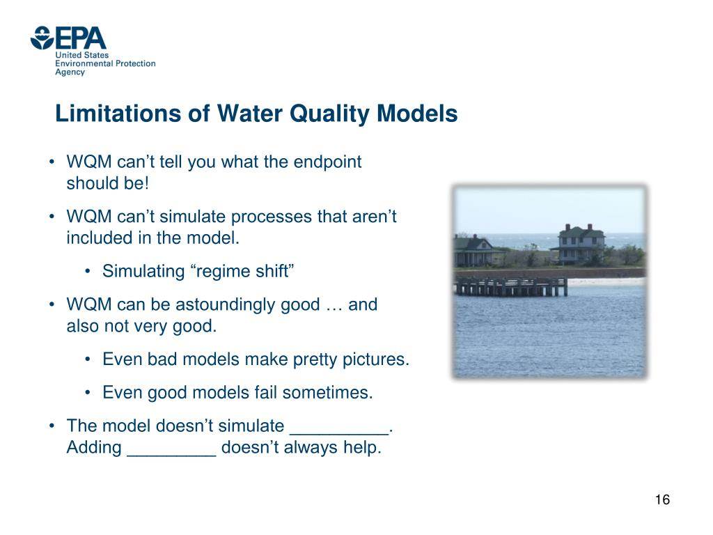 Limitations of Water Quality Models