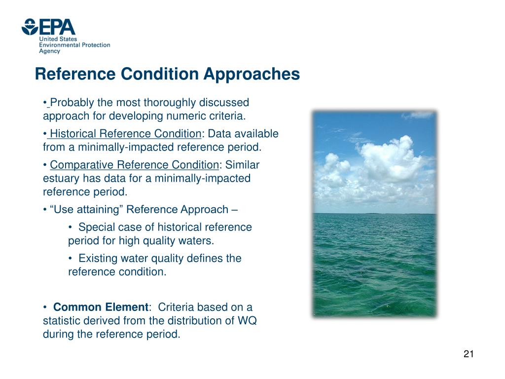 Reference Condition Approaches
