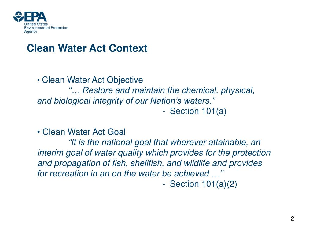 Clean Water Act Context