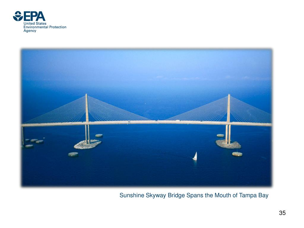 Sunshine Skyway Bridge Spans the Mouth of Tampa Bay