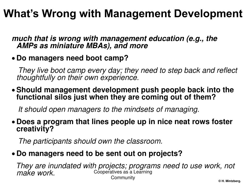 What's Wrong with Management Development