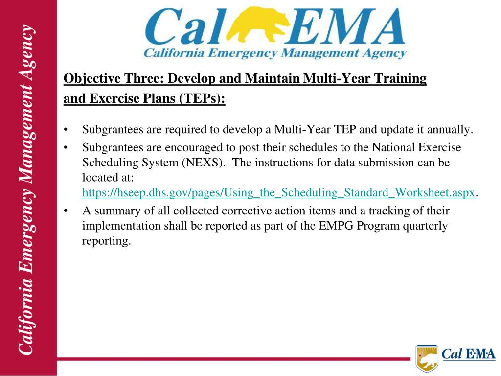Objective Three: Develop and Maintain Multi-Year Training
