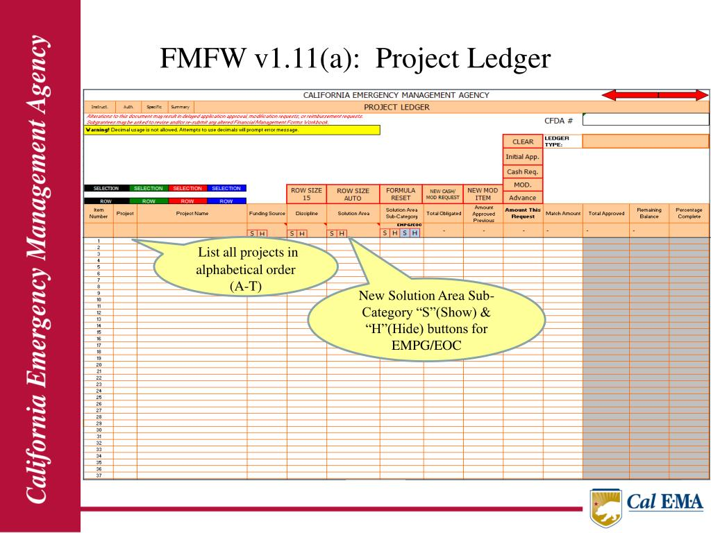 FMFW v1.11(a):  Project Ledger