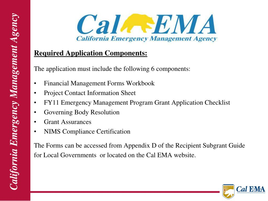 Required Application Components: