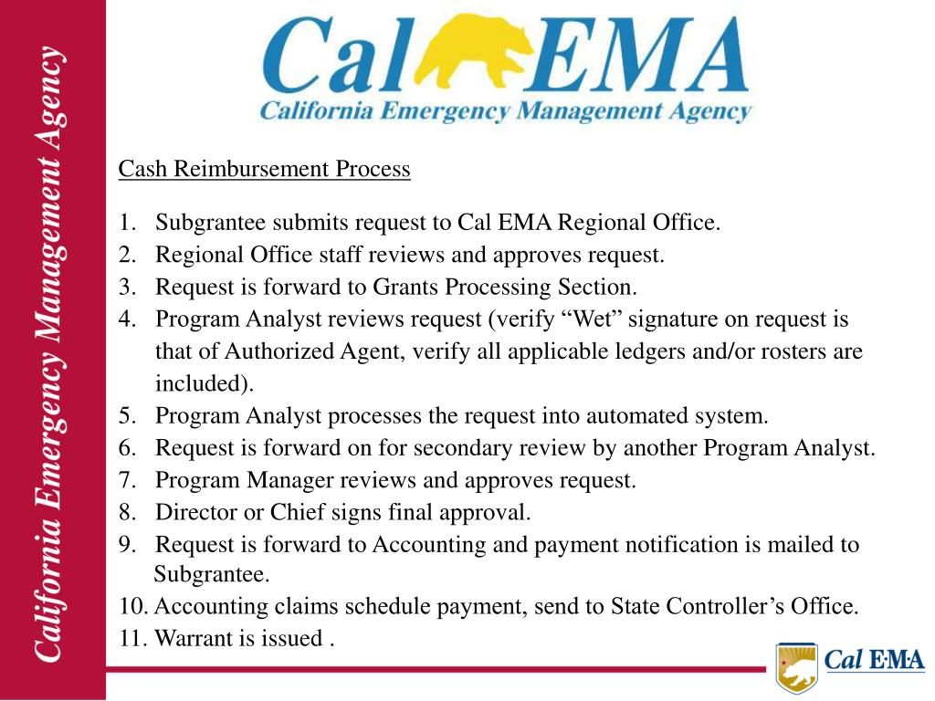 Cash Reimbursement Process