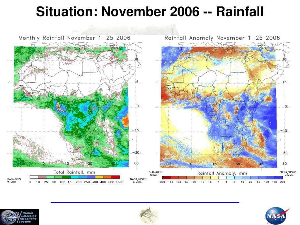 Situation: November 2006 -- Rainfall