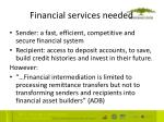 financial services needed