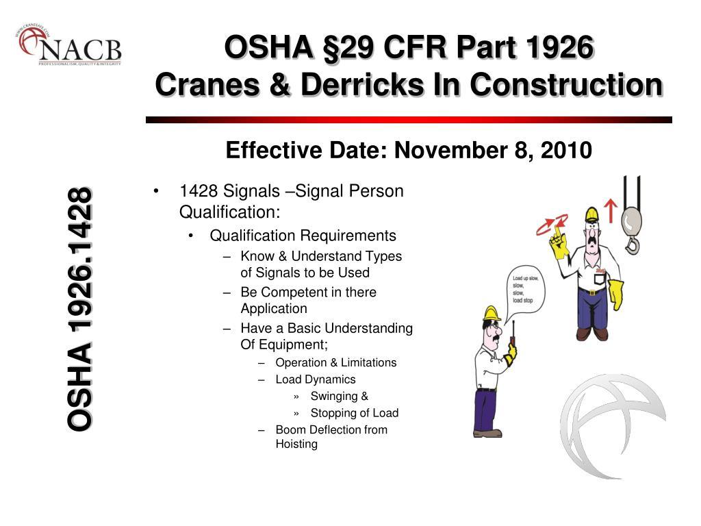 OSHA §29 CFR Part 1926