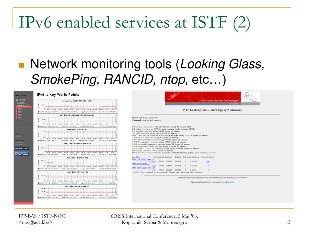 IPv6 enabled services at ISTF (2)