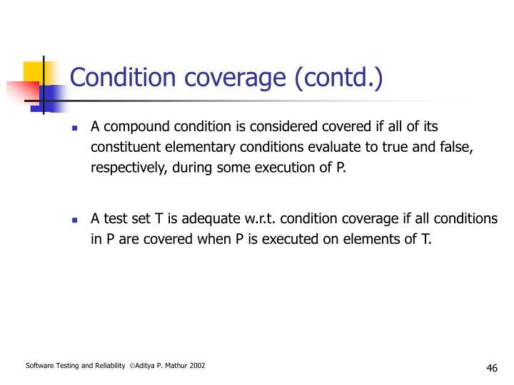 Condition coverage (contd.)