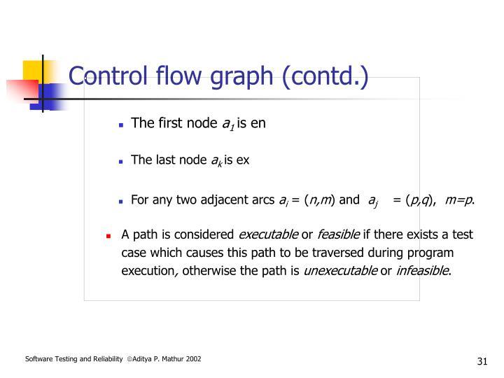Control flow graph (contd.)