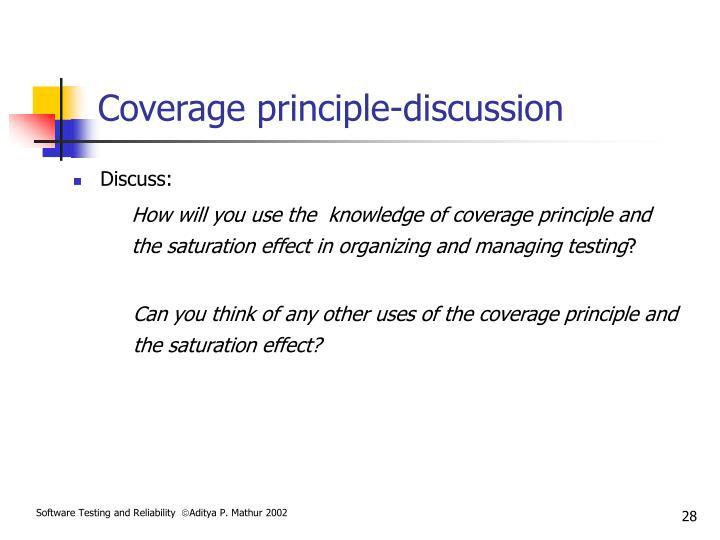 Coverage principle-discussion