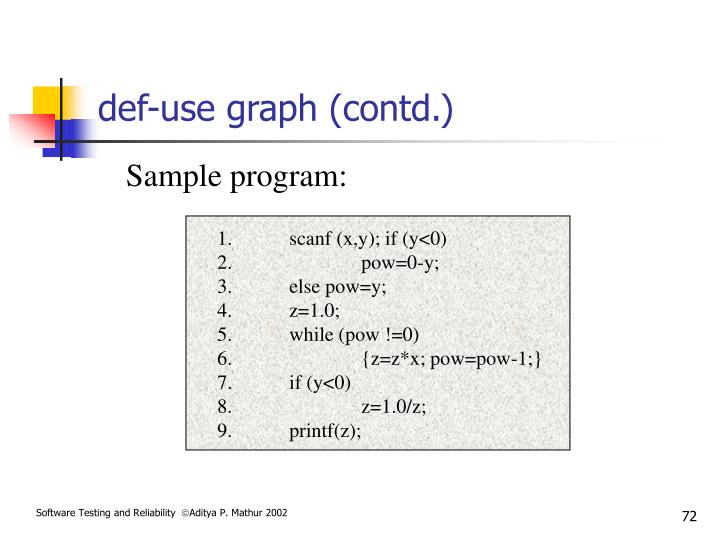 def-use graph (contd.)