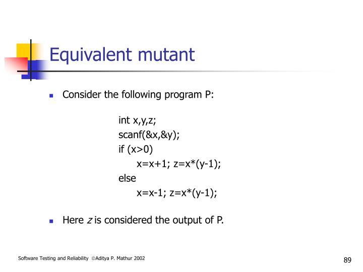 Equivalent mutant
