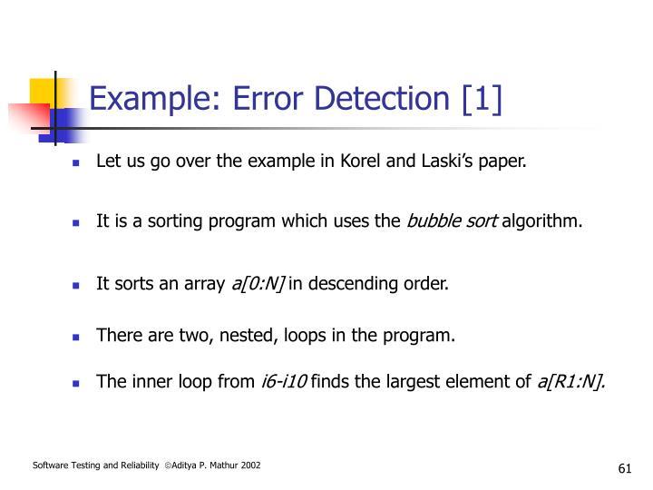 Example: Error Detection [1]