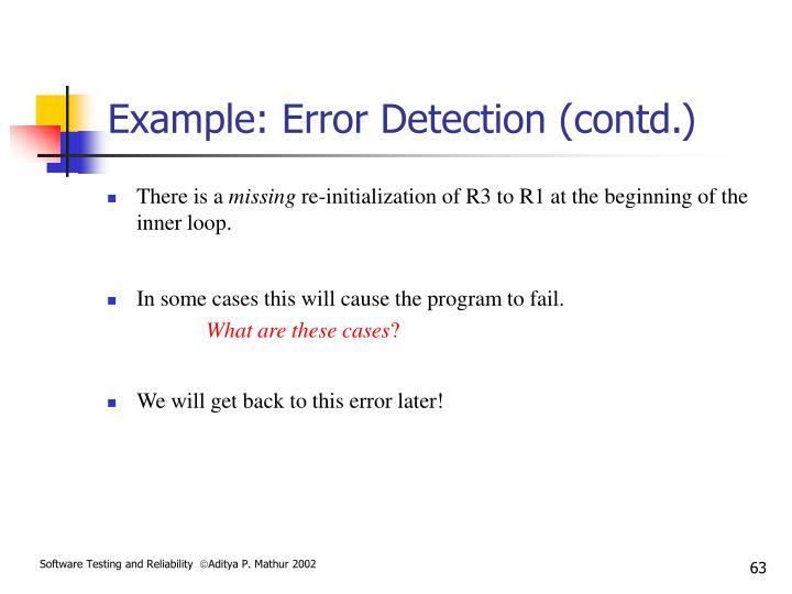 Example: Error Detection (contd.)