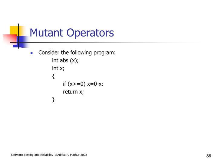 Mutant Operators