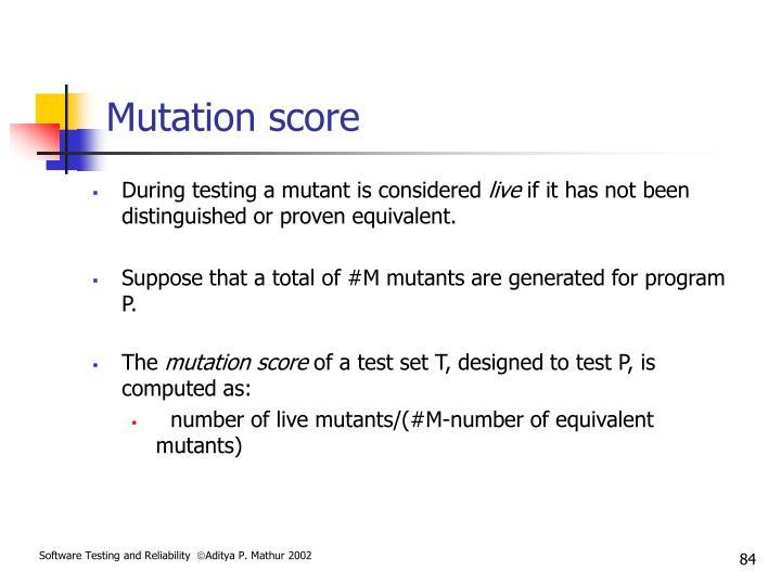 Mutation score