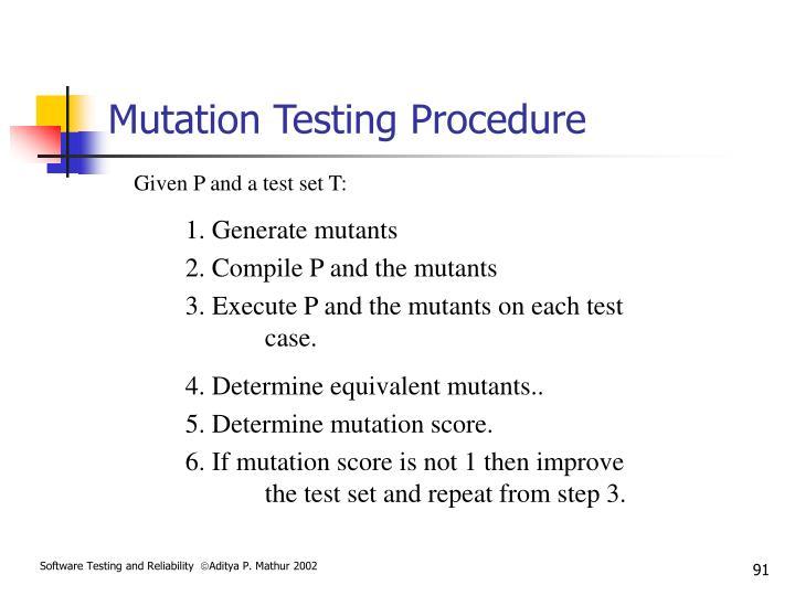 Mutation Testing Procedure