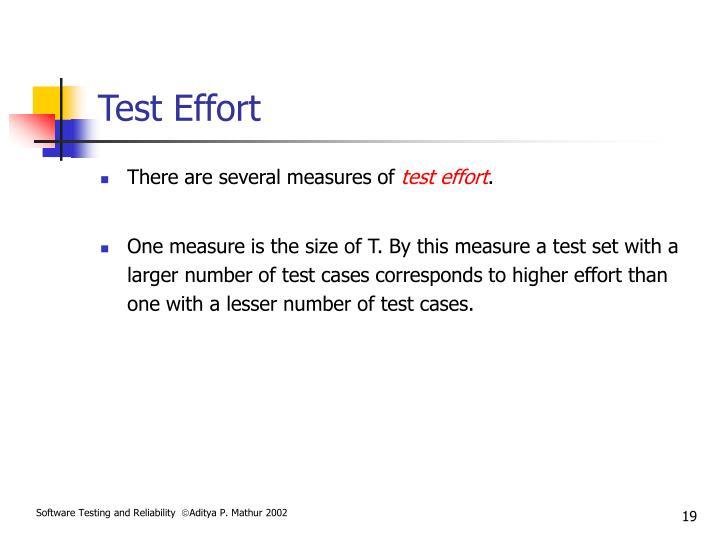 Test Effort
