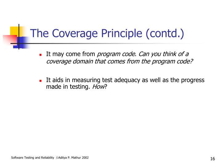 The Coverage Principle (contd.)