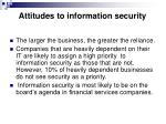 attitudes to information security