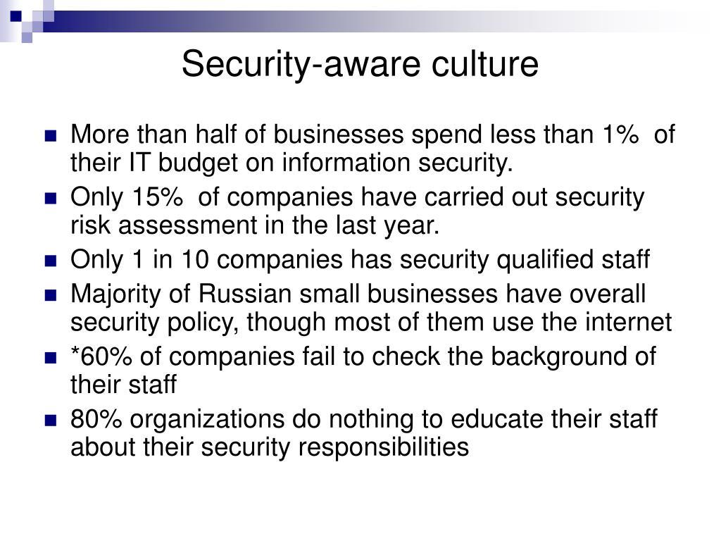Security-aware culture