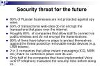 security threat for the future