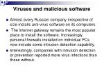 viruses and malicious software