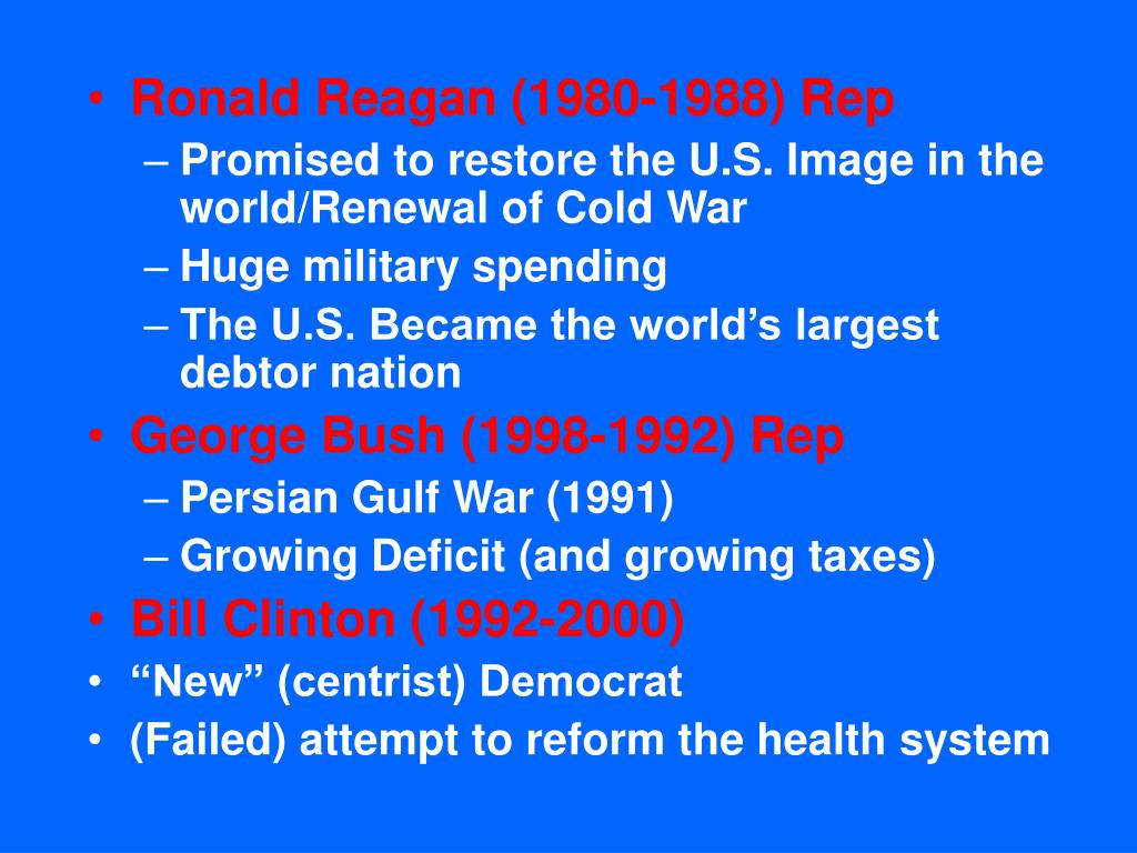 Ronald Reagan (1980-1988) Rep
