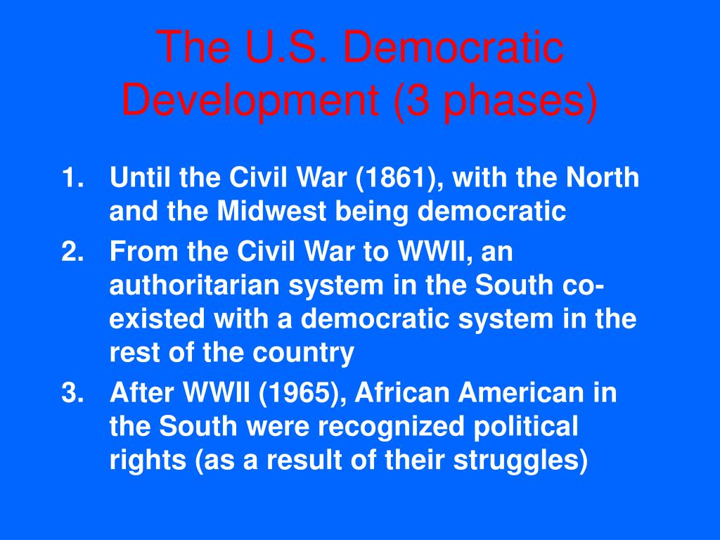 The U.S. Democratic Development (3 phases)