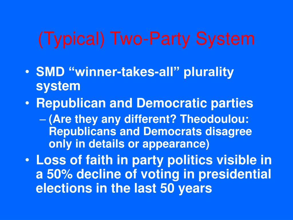 (Typical) Two-Party System